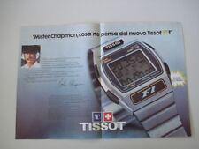 advertising Pubblicità 1980 OROLOGIO TISSOT F1 e COLIN CHAPMAN