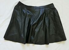 Black Leather LOOK Skirt Size 14 -missguided