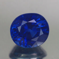 2.11CT CERTIFIED AA TOP OVAL HEATED ONLY ROYAL BLUE CEYLON SAPPHIRE