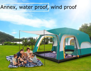 Hot Sale 8-12 person Luxury Large Dome Family Waterproof Folding three rooms