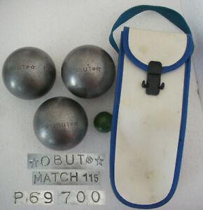OBUT MATCH 115 700gr P69 Ø73mm +étui Triplette compétition 3 boules de pétanque