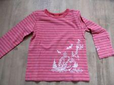 S.OLIVER gestreiftes Langarmshirt pink rosa Flockprint Gr. 92/98 NEU ST817