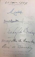Elizabeth II & Prince Philip Wedding ROYALTY GUEST REGISTER Multiple Autographs