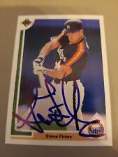 1992 Upper Deck SIgned Steve Finley Huston Astros Baseball Card
