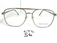 Vtg 1970s/80s Moda Italia Sun Eyeglass Frame Aviator 2288 Metal 18Kgp (Ltl-56)