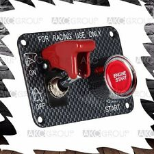 Performance Starter Push Button Red Safety Cover Panel Switch Kit For Racing