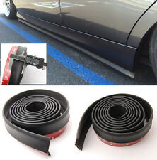 Pair 8 Feet Black Side Skirts Lip Splitter Body Spoiler Skirt Rubber Protector
