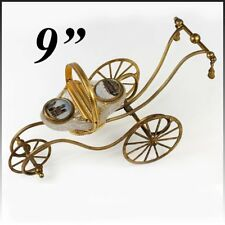 "RARE 9"" Palais Royal Carriage Box, Jewelry Casket, Grand Tour Eglomise, Opaline"