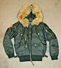 Dsquared2 Fighting Dudes Real Down Fur Black Bomber Jacket FW 2007 - Size 52 L