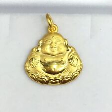 24K Solid Gold 3D Happy Or Lucky Buddha Charm/ Pendant, 5.54 Grams