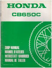 No 3 Addendums For Shop Manual CB650 From 1980a 1982