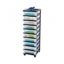 Craft Storage Rolling Organizer Cart 10 Drawer Drawers Paper Supply Office Hobby