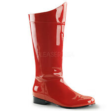 Red Spider Man Superman Iron Man Cosplay Mens Halloween Costume Boots 9 10 11 12