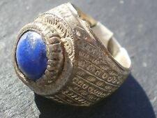 1 Rare Ancient Silver Lapis Lazuli Ring ( Afghanistan)
