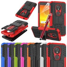 For Motorola Moto E5 Phone Case Hybrid Shockproof Rugged Stand Armor Back Cover