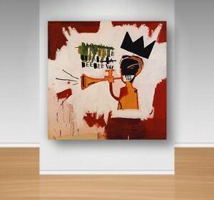 Canvas Wall Art - Jean Michel Basquiats - Trumpet