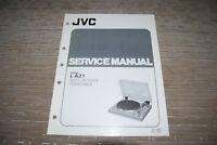 JVC L-A21 Turntable Service Original Manual Original