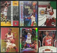 Lot of (6) Hakeem Olajuwon, Including Z Force Total Impact, Prizm Silver, insert