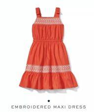 Janie and Jack Girls Embroidered Maxi Dress Sz 12