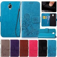 Patterned Magnetic PU leather wallet case flip cover for smart phone TPU strap