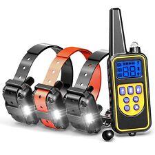 800M Eléctrico Perro Choque Collar Adiestramiento LCD Anti-corteza Entrenamiento
