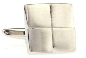 Cufflinks.Direct Stylish Hard Wearing Brushed Stainless Steal Effect Cufflinks