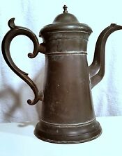 Antique American Pewter Lighthouse Coffeepot 19th Freeman Porter Westbrook Maine