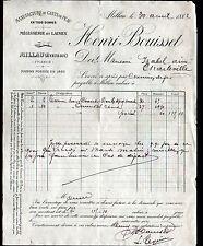 """MILLAU (12) USINE de GANTS DE PEAU / MEGISSERIE & LAINE """"Henri BOUISSET"""" en 1882"""