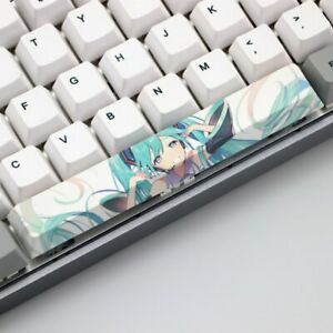 Hatsune Miku Custom Spacebar Keycap PBT 6.25U Cherry Profile Anime Key Cap Waifu