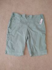Sonoma Women's Plus 24W Shorts Ultra Comfort Waistband Calder Blu Green