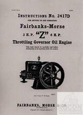 Fairbanks Morse Z 3 & 6 HP Hit & Miss Engine Manual
