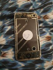 GENUINE IPHONE 4S METAL CHROME SILVER BEZEL CHASIS HOUSING MID FRAME