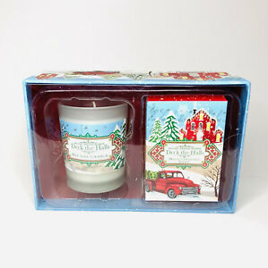 MICHEL DESIGN WORKS Deck The Halls SOY WAX CANDLE & SOAP Set Christmas Pine NEW