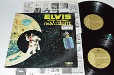 ELVIS PRESLEY Aloha From Hawaii Via Satellite 2-LP RCA Tan Canada VPSX-6089 VG+