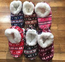 3 Pairs Women Thick Fluffy Home Non-slip Warm Soft Fur Winter Bed Socks Slipper