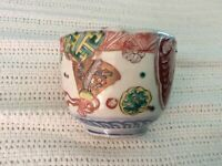 Collectible hand painted Asian cup dish