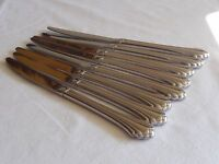 "8x Dinner Knives Knife 9"" BANCROFT FORTUNE Oneida USA Stainless Steel Flatware"