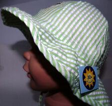 UV Schutz KU50 51 52 52 53 54 BINDEN Nackenschutz Sommer Sonnen Hut Mädchen grün