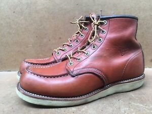Red Wing Heritage 8131 Classic Moc Toe Brown Boots Size USA 8.5 E || Uk 7.5 |