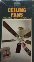 """""""HOW-TO"""" Video Guide CEILING FANS Assembly and Installation VHS-RARE-SHIP N 24HR"""