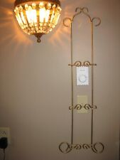 Plate Rack, Wall Mount, display rack, 3 plate, Wrought Iron style, Gold