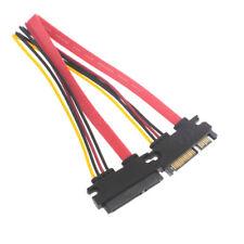 P29 50cm S-ATA Daten Strom Verlängerung Kabel SATA 7+15 Pin Stecker zu Buchse PC