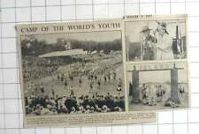 1937 28,000 Boy Scouts March Past Queen Wilhelmina In Vogelenzang Camp Haarlem