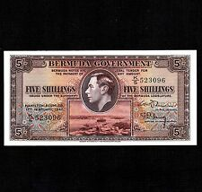 Bermuda 5 Shillings 1947 P-14 * XF- * King George *