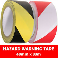 SOCIAL DISTANCING PVC FLOOR HAZARD WARNING TAPE ROLLS SELF ADHESIVE 48MM X 33M