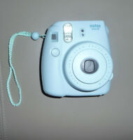 Fujifilm Instax Mini 8,Ice Blue Instant Film Camera+Self Shot Mirror for Sel...