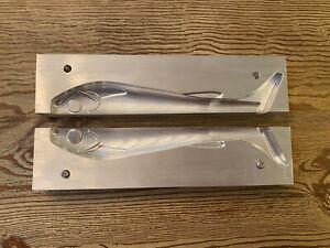 Soft Plastic Aluminum Mold, 8 Inch Swimbait Lure, Plastisol, Open Pour, USA Made