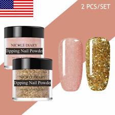 2 PCS/KIT NICOLE DIARY 10ml Nail Dipping Powder Acrylic Dip Liquids Natural Dry