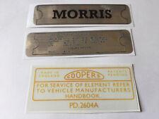 Classic Morris Motor Car Sticker Pack Minor Oxford Isis Cowley Mini-minor 1800
