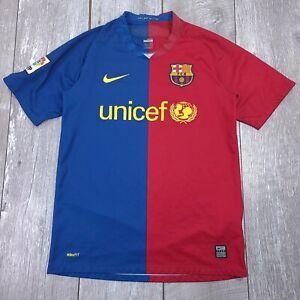 Nike Barcelona FCB Soccer Football Home Jersey Men Small 2008-2009 Short Sleeve